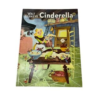 Walt Disney's Cinderella, VTG 1950 Hrdcvr, A Big Golden Book 1st ed., EUC
