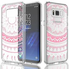Samsung Galaxy S8 PINK Case TPU Tekcoo ROSE Flower Slim Clear Transparent Retro