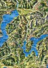 Schweiz Kanton Tessin Ticino Landkarte Map Postkarte Postcard Switzerland color