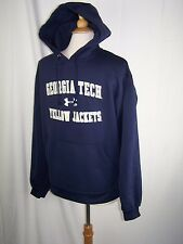 Georgia Tech Yellow Jackets Under Armour Navy Blue Logo Pullover Hoodie Medium
