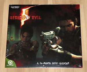 2010 Resident evil 5 Calendar Chris Redfield Sheva Alomar New & Sealed