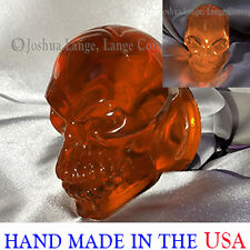 Harley Davidson custom turn signal tail lights Skull lenses Amber Gloss bullet