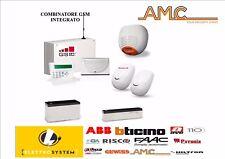 """AMC Kit SERIE NUOVA Centrale allarme """"C24"""" GSM PLUS 8/24 Zone+LCD VOICE+SIRENA"""