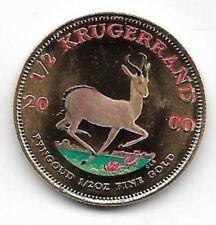 Münze 1/2 OZ 2000 , Unze  Feingold , Krugerrand , Farbmünze , Gold Münze , RAR