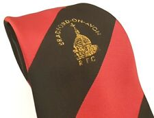 BRADFORD ON AVON RFC Rugby Club Tie Red Black Vintage Polyester T37