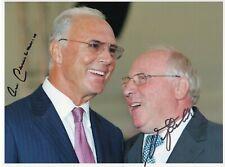 Franz Beckenbauer & Uwe Seeler FC Bayern GF original Autogramm signiert signed