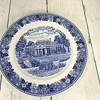 MONTICELLO Home Thomas Jefferson Plate 6 3/4 Jonroth Staffordshire England Blue