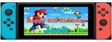 NINTENDO SWITCH 3ft personalised birthday banners party inspired kids X2