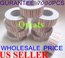 10 rolls =7000 White Sales Tag label Refill Price Gun Mx M L-5500 989 Price Gun