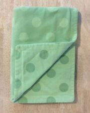 Amy Coe Green Baby Blanket Polka Dot Fleece Security Limited Edition Red Tag