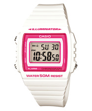 Casio Standard Digital White and Pink Watch W215H-7A2