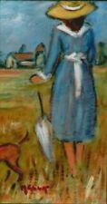 Peintures du XXe siècle et contemporaines huiles sur panneau personnage