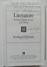 Sixth Edition Literature - Robert DiYanni 2007 signed by Author