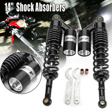 2x 360mm 14'' Rear Air Shock Absorbers Suspension ATV Motorcycle Dirt Bike