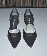 Nina Black Pointy Toe Heel Pump Shoes 8 M