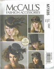 McCalls Sewing Pattern 7335, 5 Hats, Forme Millinery, Uncut