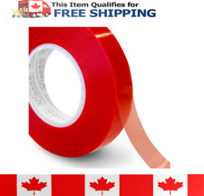 15mm x 25m Double Sided Red Adhesive Tape with a transparent polyester film