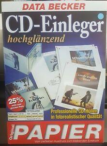 CD- Einleger zum Bedrucken, von Data Becker,