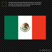 "4"" Mexican Flag Sticker Die Cut Decal Self Adhesive Vinyl mexico"