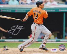 Manny Machado Signed 8x10 Baltimore Orioles Photo - MLB Orange Jersey PSA/DNA