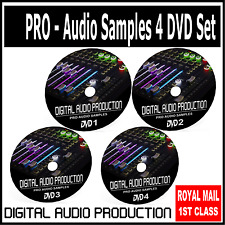30,000 Audio Samples Drum Loops DJ Sound Effects Instrument Effects *4 DVD SET*