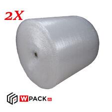 2x Luftpolsterfolie | Noppenfolie Transparent 50 cm x 100m Verpackung Schutz
