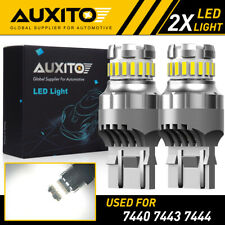 AUXITO 7443 7440 Brake Stop Reverse Light Bulbs LED White Extreme Bright 23SMD A