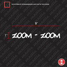 2x ZOOM-ZOOM Sticker funny White Car decal