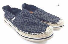 Joy & Mario Womens 7.5 W Black Fabric Loafers Flats Slip-On Shoes
