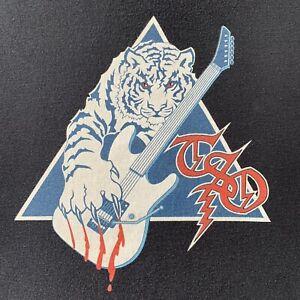 trans siberian orchestra   TSO   black short sleeve white tiger logo t-shirt