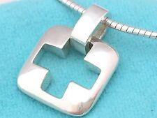 Tiffany & Co. © 1999 CROSS STENCIL  Wire Pendant Necklace Sterling Silver #M/D5