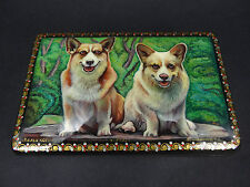 """Russian Lacquer Box """"Dogs"""" 771 - Kholui hand painted Russian  Box"""
