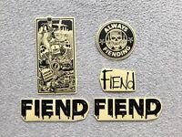 NEW 5 x Fiend Bmx Stickers Black Sticker Garrett Reynolds V2 Frame Deadline
