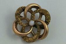 With Gold Front & Opal Victorian Antique Love Knot Pin