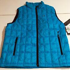 Tommy Hilfiger Men's Large Blue Packable Down Jacket Vest...