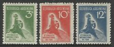 ARGENTINA 1932 Intl Refrigeration Congress set of 3 VF mint MLH SG#632-634