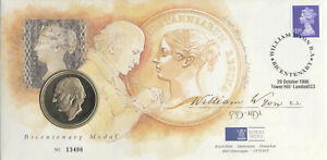 (74379) GB Medallion Cover William Wyon Tower Hill 1995