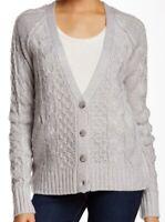 J & J NEW Gray Womens Long Sleeve Button Down Cardigan Sweater Size Medium