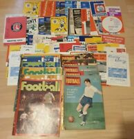 18 x vintage Football Monthly & Charle's Buchan Magazines + 56 programmes VGC