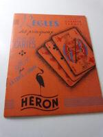 règles des principaux jeux de cartes , HERON (gc30)