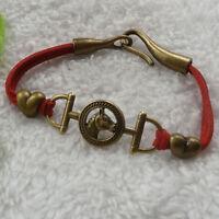 28 pcs red double velour bronze plated horse head bracelets ZH1045