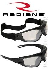 Radians Cuatro Indoor Outdoor Anti Fog Safety Glasses Foam Padded Goggles Z87.1