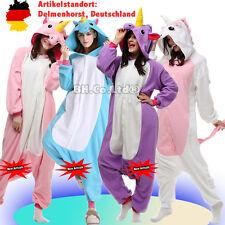 Erwachsene Kinder Einhorn Pony Cosplay Pyjama Tier Onesie Kostüme Kigurumi Neu
