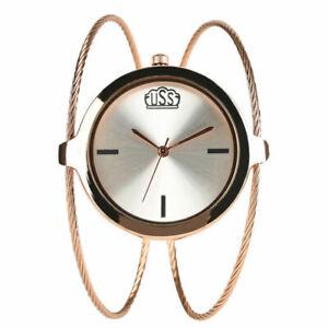 Cable Wire Band Women's Dress Quartz Bracelet Bangle Wrist Watch Small Dial Gift