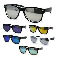 Girls Child Size Panel Color Mirror Lens Horn Rim Mod Sunglasses