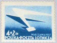 POLAND POLEN 1957 1004 CB1 Wing of Airplane and Letter Flugzeugflügel MNH