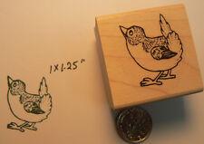 """P34 Little bird rubber stamp WM 1x1"""""""