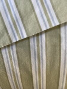 Simply Shabby Chic Green & White Striped Rare Curtains drapes British panels 2