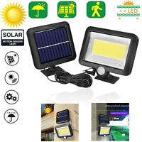 100LED COB Solar Lamp Motion Sensor Waterproof Outdoor Garden Path Night Light