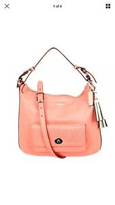Coach Legacy Perforated Leather Courtenay Hobo Shoulder Bag 23704 CORAL Sand NEW